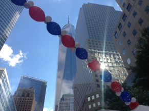 Finish Line! The View of the new Freedom Tower was amazing.